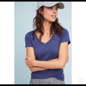 Anthro Saturday Sunday Carrie V-Neck Tee